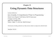 Chapter 15 Using Dynamic Data Structures