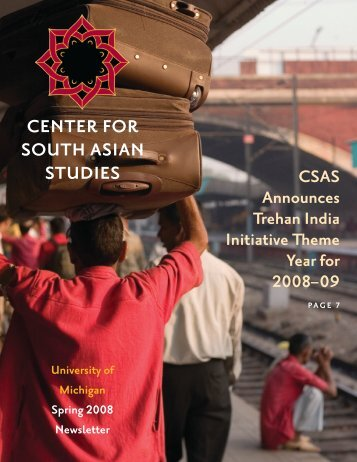 Spring 2008 Newsletter - International Institute - University of Michigan