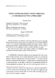 Modular programming of recurrencies