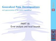 Error analysis and local bounds