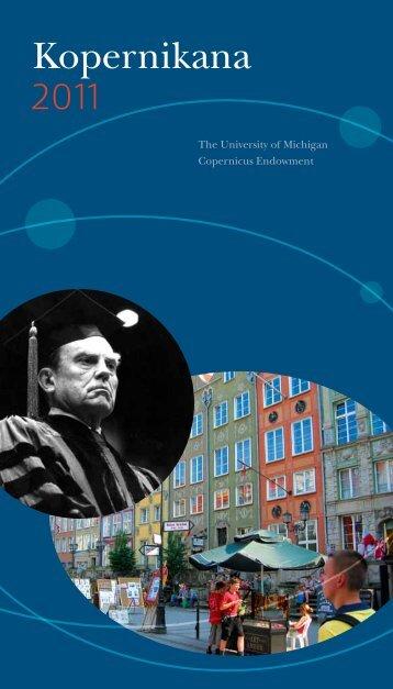 Kopernikana 2011 - International Institute - University of Michigan