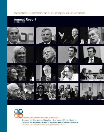 annual Report 2009-10 - International Institute - University of Michigan