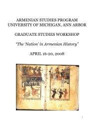 armenian studies program university of michigan, ann arbor
