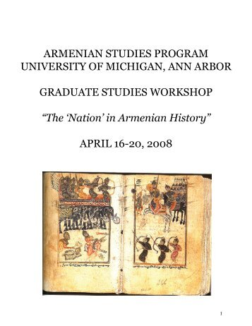 armenian studies program university of michigan, ann arbor