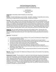 Arab Cultural Exploration and Celebration Middle School Unit
