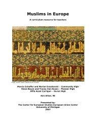 Muslims in Europe: - International Institute - University of Michigan