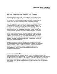 Gebrüder Weiss Presseinfo Gebrüder Weiss setzt auf Marktführer in ...