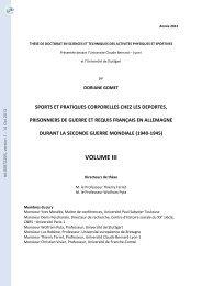 Sports et pratiques corporelles chez les déportes, prisonniers de ...