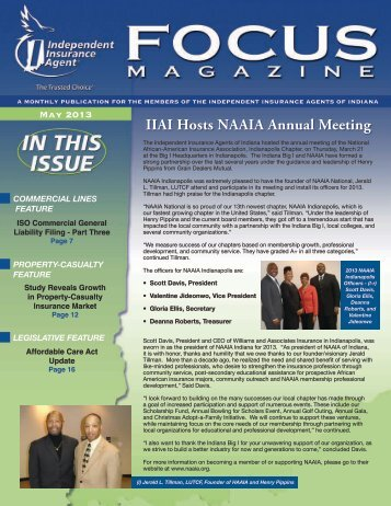 May 2013 - Independent Insurance Agent