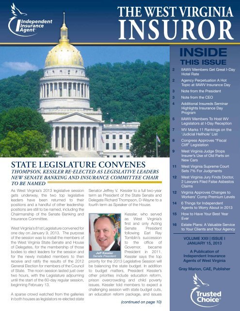 Volume 22, Issue 1 - Independent Insurance Agent