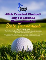 45th Trusted Choice® Big I National Championship - Independent ...
