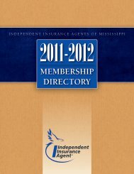 MEMBERSHIP DIRECTORY - Independent Insurance Agent