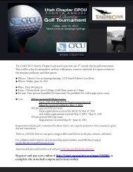 CPCU 4th Annual Charity Golf Tournament