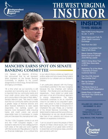 Volume 21, Issue 22 - Independent Insurance Agent