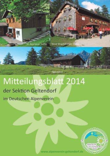 Mitteilungsblatt 2014