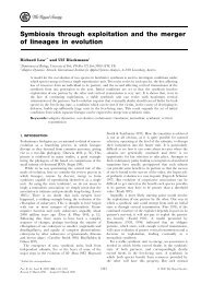 Symbiosis through exploitation and the merger of lineages in evolution