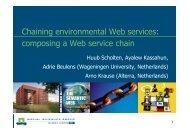 Chaining environmental Web services: composing a Web ... - IIASA