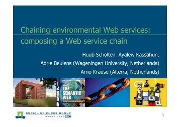 Chaining environmental Web services: composing a Web ... - IIASA