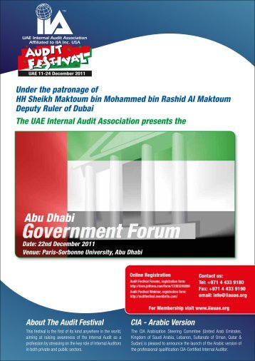 Abu Dhabi Government Forum - UAE IAA