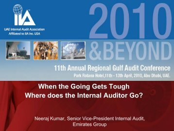 When the Going Gets Tough, Where Does Internal Audit Go?