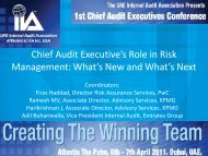 CAE ERM Session Final Workshop - The Institute of Internal Auditors