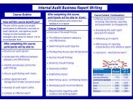 Internal Audit Business Report Writing - The Institute of Internal ...