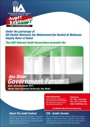 Abu Dhabi Government Forum - The Institute of Internal Auditors