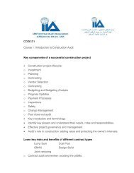 Course outline in Introduction to Construction Audit