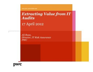 Ali Raza-Extracting Value from IT Audit -.pdf - The Institute of Internal ...