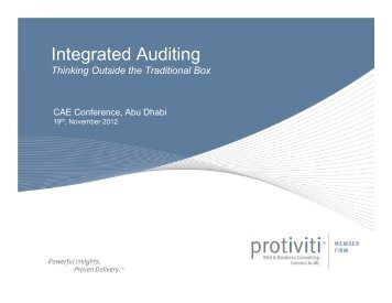 Integrated Auditing
