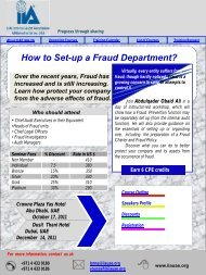 How to Set-up a Fraud Department? - The Institute of Internal Auditors
