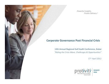 The Role Of Corporate Governance in a post Crisis Scenario .pdf