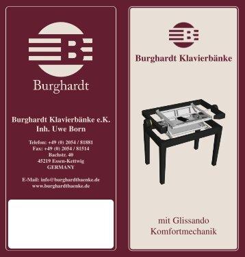 Messeflyer Born Deutsch - bei Burghardt Klavierbänke