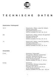 TECHNISCHEDATEN - bei Burghardt Klavierbänke