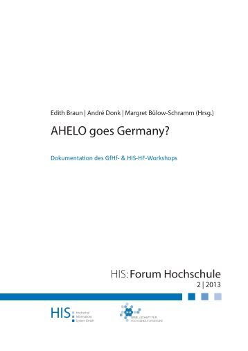 Download HIS:Forum Hochschule 2 - Hochschul-Informations ...