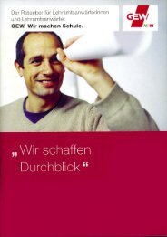 Durchblick 2013 - GEW
