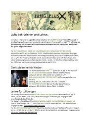 gibt es unsern letzten Newsletter als pdf. - Theater-Bielefeld