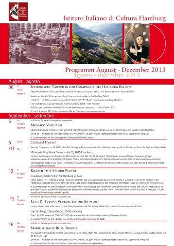 Dezember 2013 agosto - dicembre 2013 - Italienisches Kulturinstitut ...
