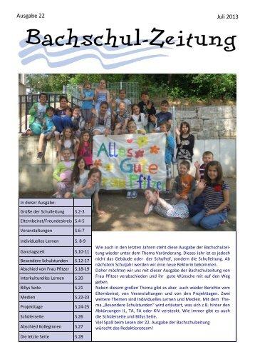 Juli 2013 Ausgabe 22 - Bachschule Feuerbach