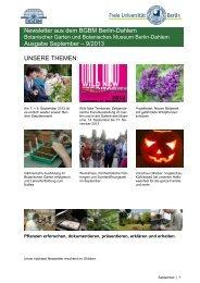 Newsletter aus dem BGBM Berlin-Dahlem Ausgabe September – 9 ...