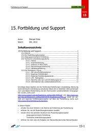 15. Fortbildung und Support - Lehrerfortbildungsserver Baden ...