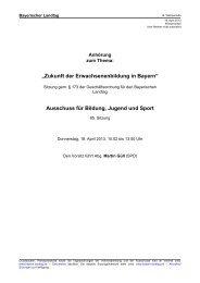 Protokoll der Anhörung vom 18. April 2013 - Bayerischer ...