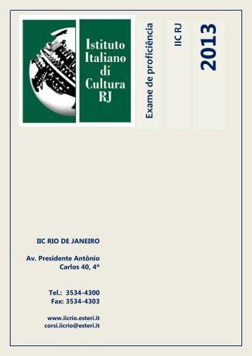IIC R J Exam e de proficiência - Instituto Italiano de Cultura Rio de ...