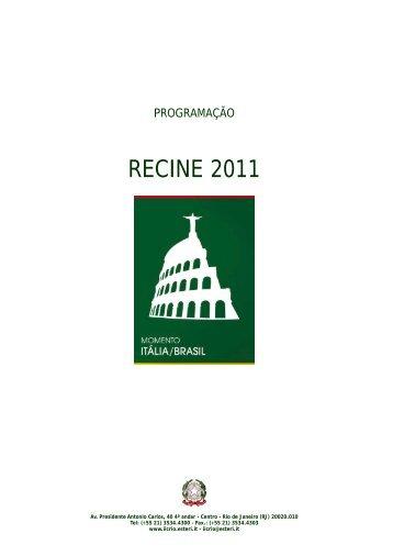 Programa - Instituto Italiano de Cultura Rio de Janeiro