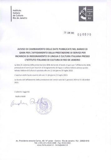 Z O JUN 2613 - Instituto Italiano de Cultura Rio de Janeiro
