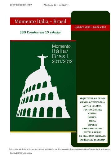 Momento Itália – Brasil - Instituto Italiano de Cultura Rio de Janeiro