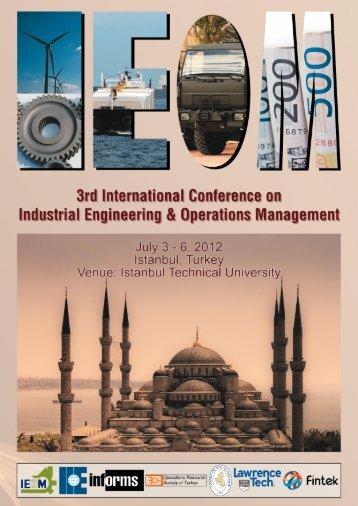 Final Conference Program (PDF) - IEOM
