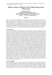 Quality Costing : An Efficient Tool For Quality Improvement ... - IEOM