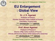 EU Enlargement : Global View - Indian Institute of Finance