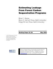 Estimating Leakage From Forest Carbon Sequestration Programs